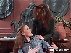 Hot milf and young slut satisfying each part2
